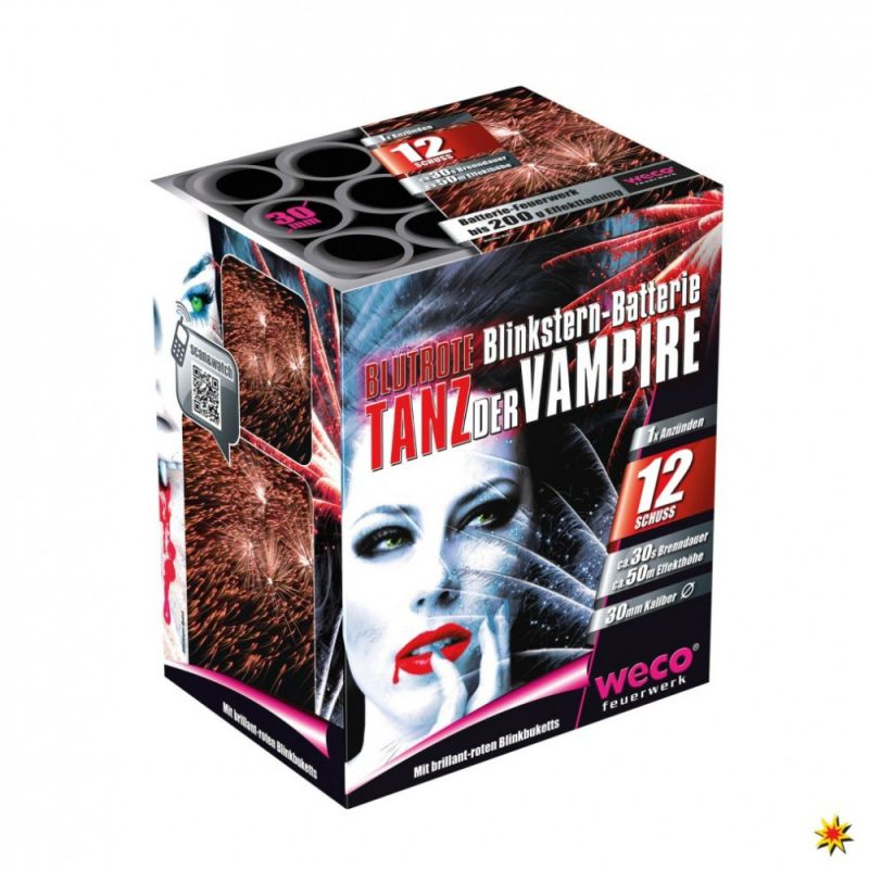 Jetzt Tanz der Vampire (Tiger, Mad Max,Champion,Tyr) 12-Schuss-Feuerwerk-Batterie ab 12.74€ bestellen