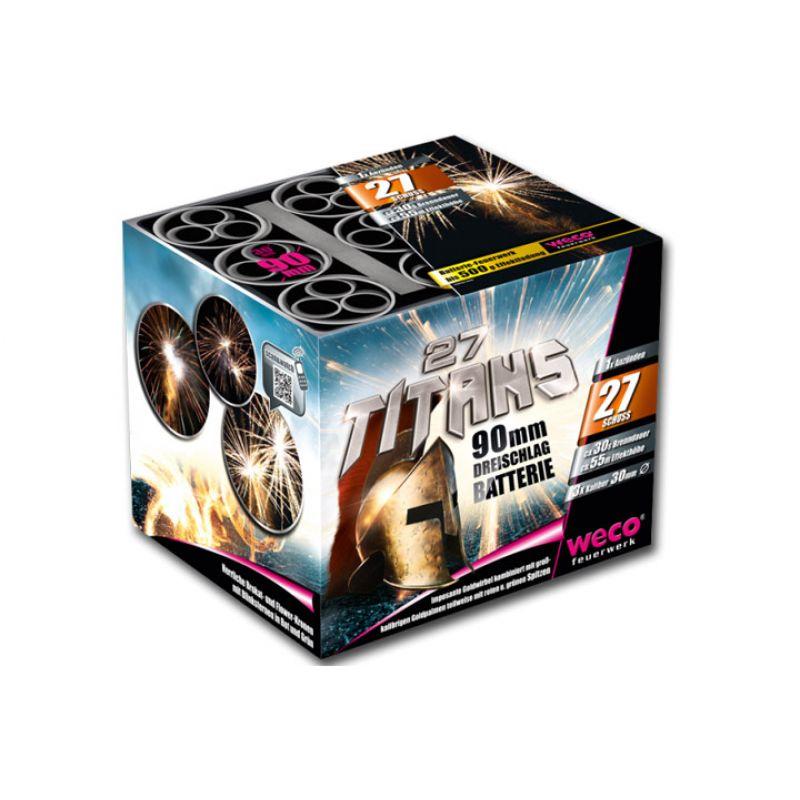 Jetzt 27 Titans 27-Schuss-Feuerwerk-Batterie ab 49.29€ bestellen