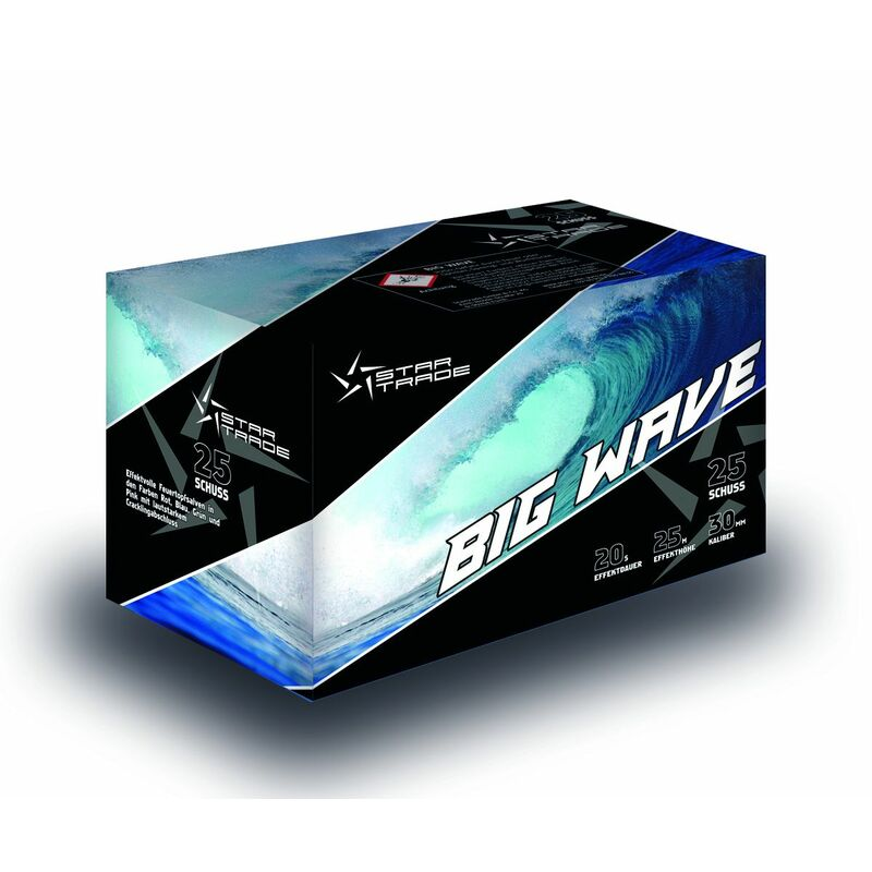 Jetzt Big Wave 25-Schuss-Feuerwerk-Batterie ab 33.99€ bestellen