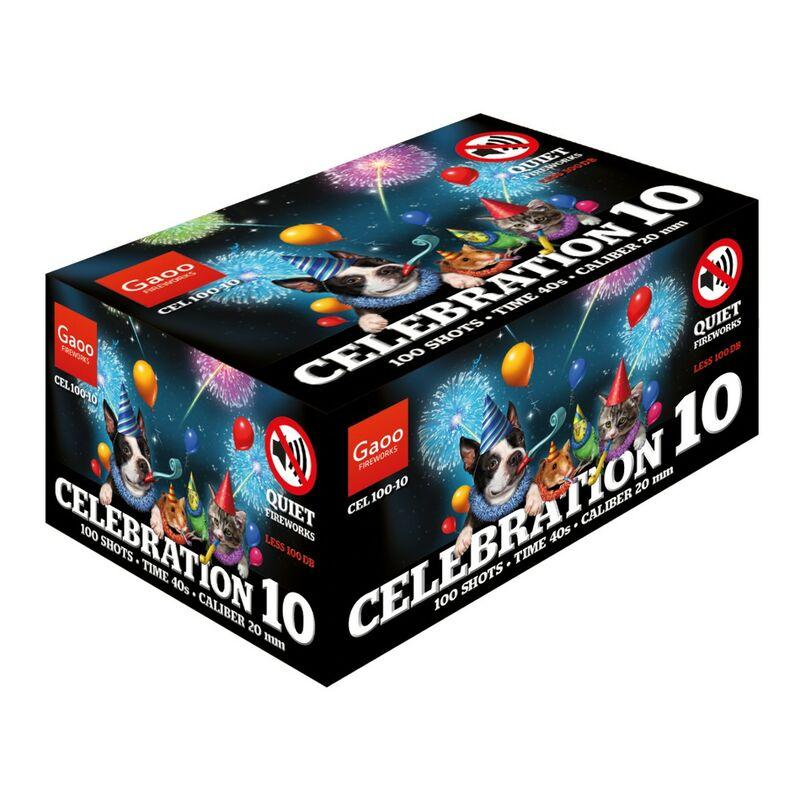 Jetzt Celebration 100-10 100-Schuss-Feuerwerk-Batterie ab 49€ bestellen