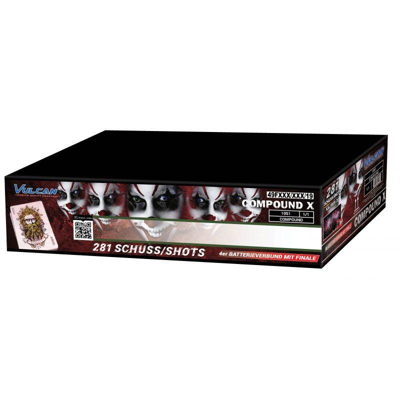 Jetzt Compound X 281-Schuss-Feuerwerkverbund ab 144.49€ bestellen