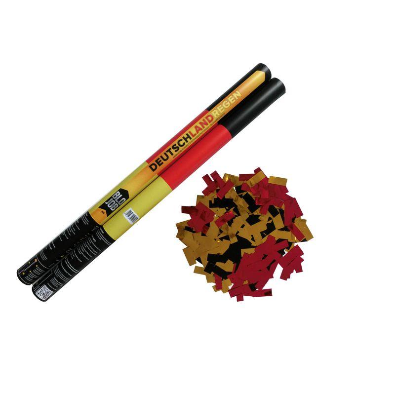 Jetzt Deutschlandregen 80cm Papier- und Metallicflitter schwarz-rot-gold ab 4.02€ bestellen