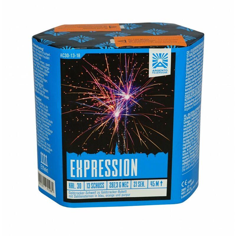 Jetzt Expression 13-Schuss-Feuerwerk-Batterie ab 11.99€ bestellen