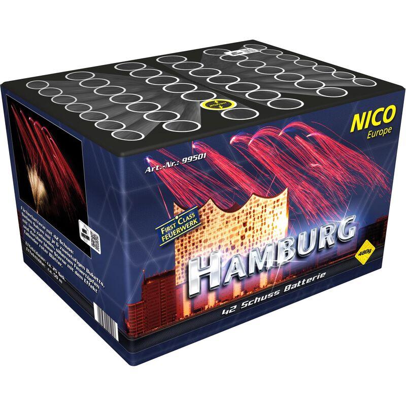 Jetzt Hamburg 42-Schuss-Feuerwerk-Batterie ab 37.39€ bestellen
