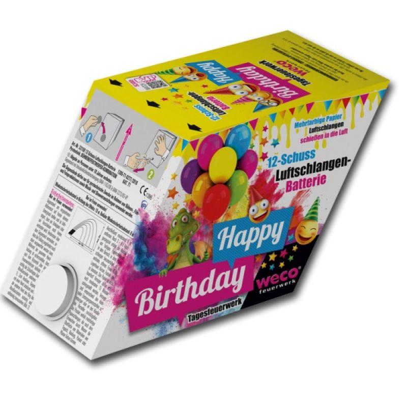 Jetzt Happy Birthday 12-Schuss-Luftschlangen-Batterie ab 29.74€ bestellen