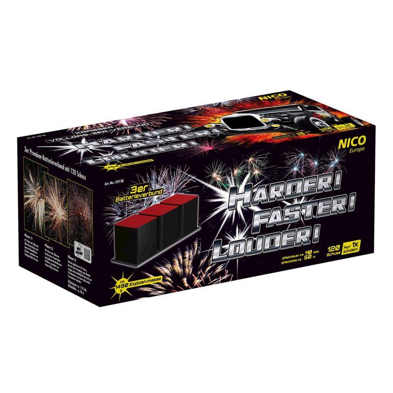 Jetzt Harder! Faster! Louder! 120-Schuss-Feuerwerkverbund ab 84.99€ bestellen
