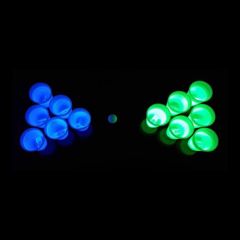 Jetzt Leuchtendes Beer Pong Set, blau/grün - 14 teilig ab 16.99€ bestellen