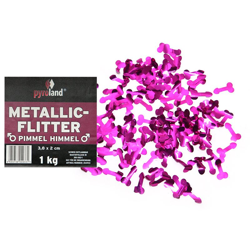 Jetzt Metallic Flitter - Pimmel Himmel 1kg (Pappschachtel) ab 39.99€ bestellen