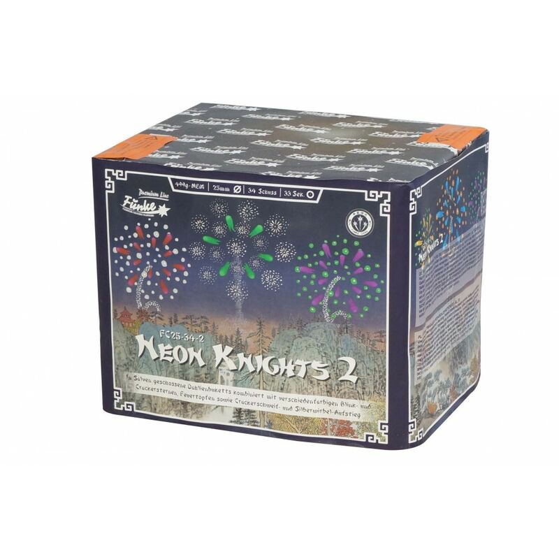 Jetzt Neon Knights 2 34-Schuss-Feuerwerk-Batterie ab 39.94€ bestellen