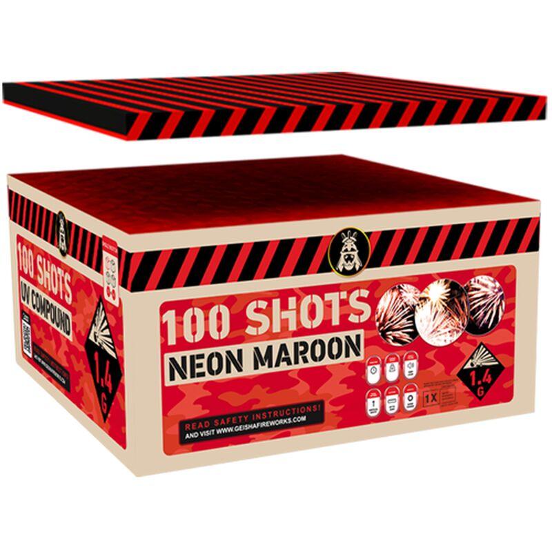 Jetzt Neon Maroon 100-Schuss-Feuerwerkverbund ab 84.99€ bestellen