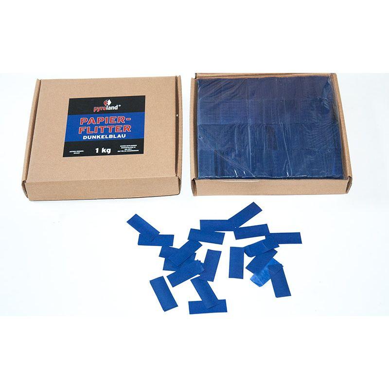 Jetzt Papier Flitter - Dunkelblau 1kg (Pappschachtel) ab 14.99€ bestellen