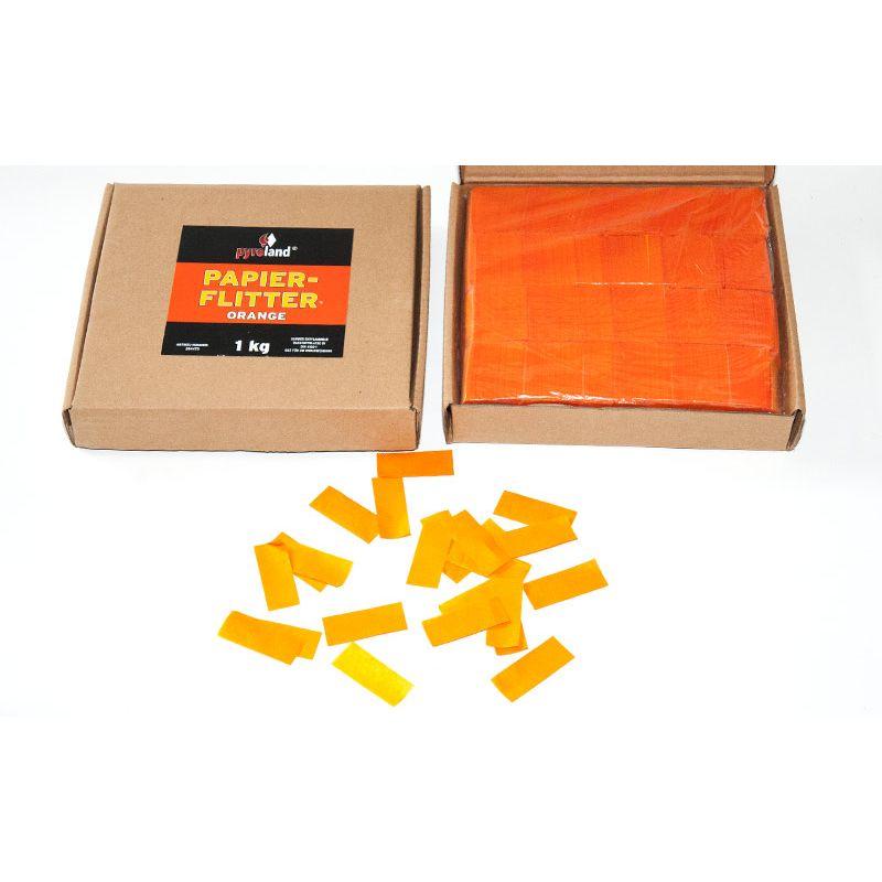Jetzt Papier Flitter - Orange 1kg (Pappschachtel) ab 14.99€ bestellen