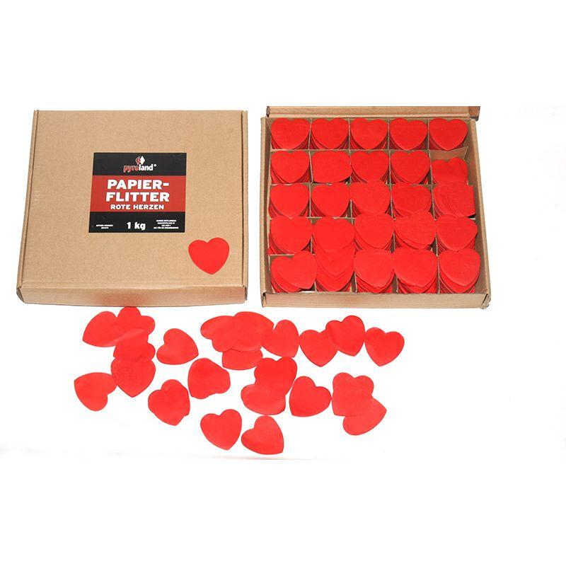 Jetzt Papier Flitter - Rote Herzen 1kg (Pappschachtel) ab 17.99€ bestellen