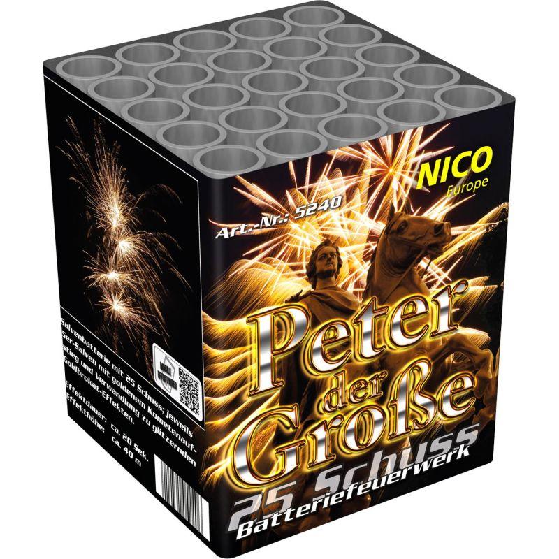 Jetzt Peter der Große 25-Schuss-Feuerwerk-Batterie ab 10.19€ bestellen