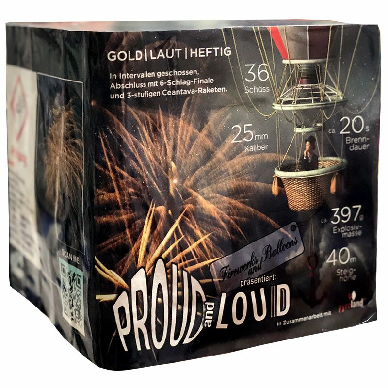 Jetzt Proudandloud 36-Schuss-Feuerwerk-Batterie ab 24.99€ bestellen