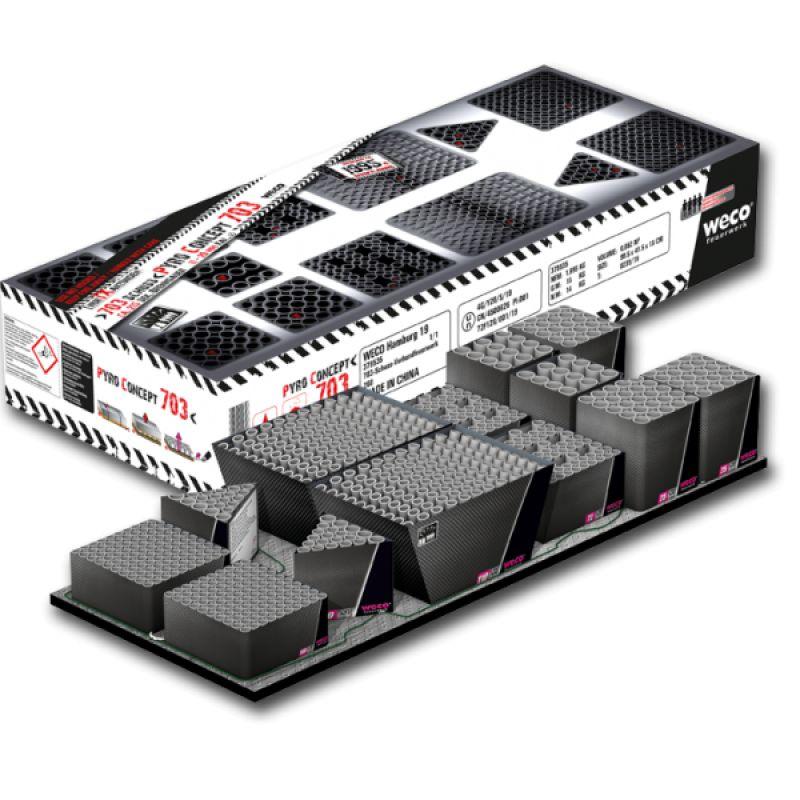 Jetzt Pyro Concept 703-Schuss-Feuerwerkverbund ab 169€ bestellen