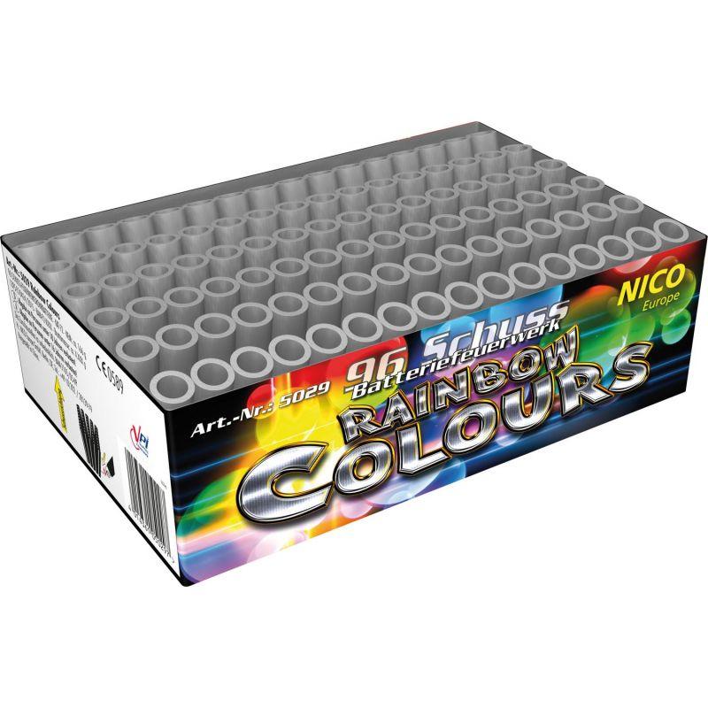 Jetzt Rainbow Colours 96-Schuss-Feuerwerk-Batterie ab 12.74€ bestellen
