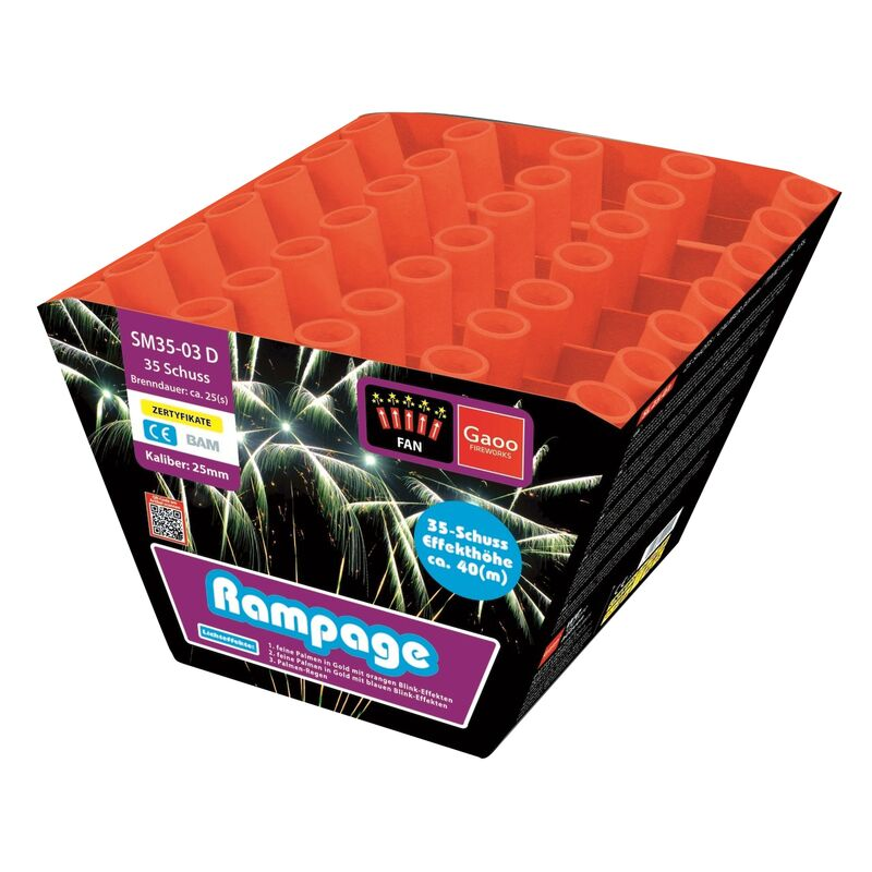Jetzt Rampage 35-Schuss-Feuerwerk-Batterie ab 36.54€ bestellen