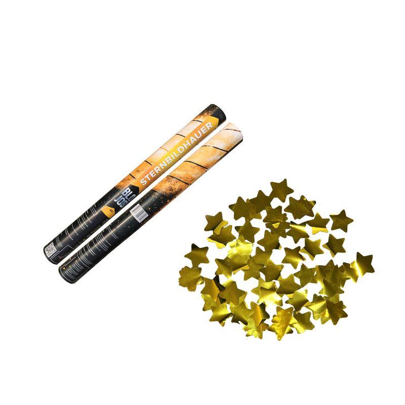 Jetzt Sternbildhauer 50cm Metallicflitter goldene Sterne ab 4.02€ bestellen