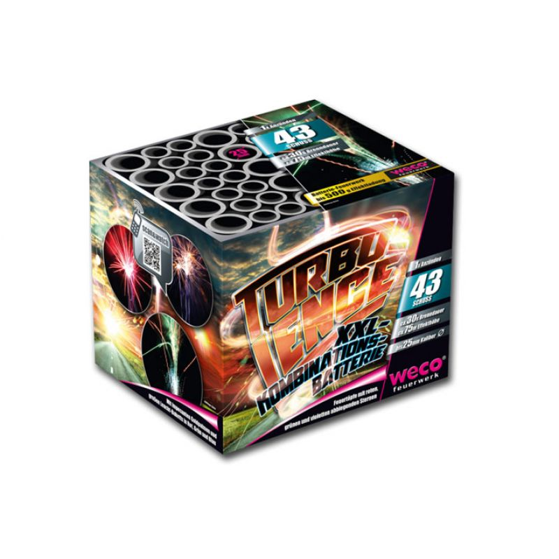 Jetzt Turbulence 43-Schuss-Feuerwerk-Batterie ab 16.14€ bestellen
