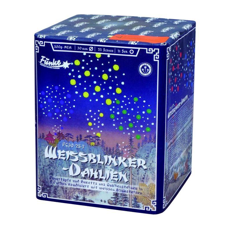 Jetzt Weissblinker-Dahlien-25-Schuss-Feuerwerk-Batterie ab 42.49€ bestellen