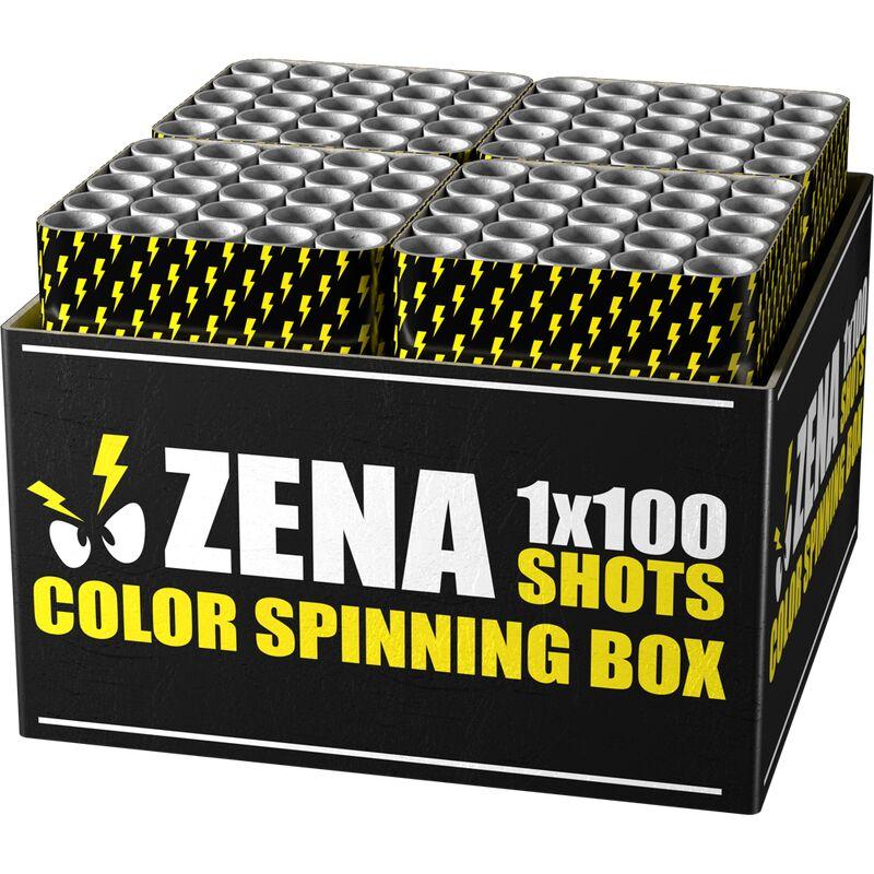 Jetzt Zena Color Spinning Box 100-Schuss-Feuerwerkverbund (Stahlkäfig) ab 110.49€ bestellen