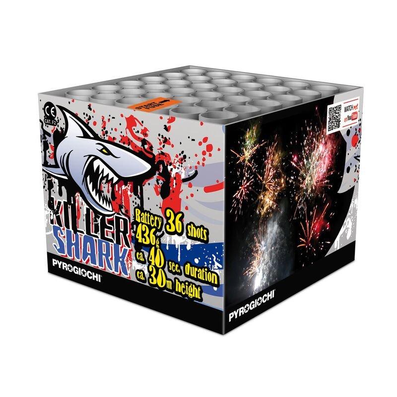Jetzt Killer Shark 36-Schuss-Feuerwerk-Batterie ab 22.94€ bestellen