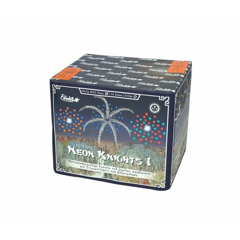 Jetzt Neon Knights 1 34-Schuss-Feuerwerk-Batterie ab 28.89€ bestellen