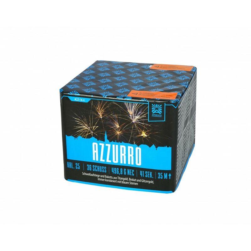 Jetzt Azzurro 36-Schuss-Feuerwerk-Batterie ab 24.99€ bestellen