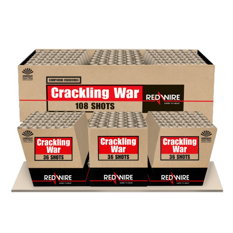 Jetzt Crackling War 108-Schuss-Feuerwerkverbund (Stahlkäfig) ab 126.65€ bestellen