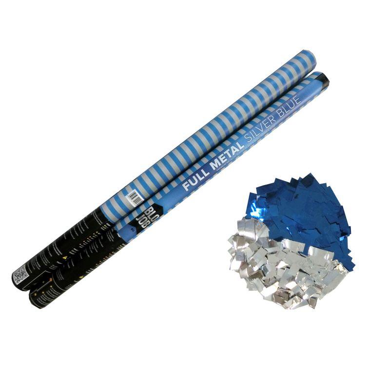 Jetzt Full Metal Silver/Blue 80cm elektrisch Metallicflitter silber-blau ab 1.91€ bestellen
