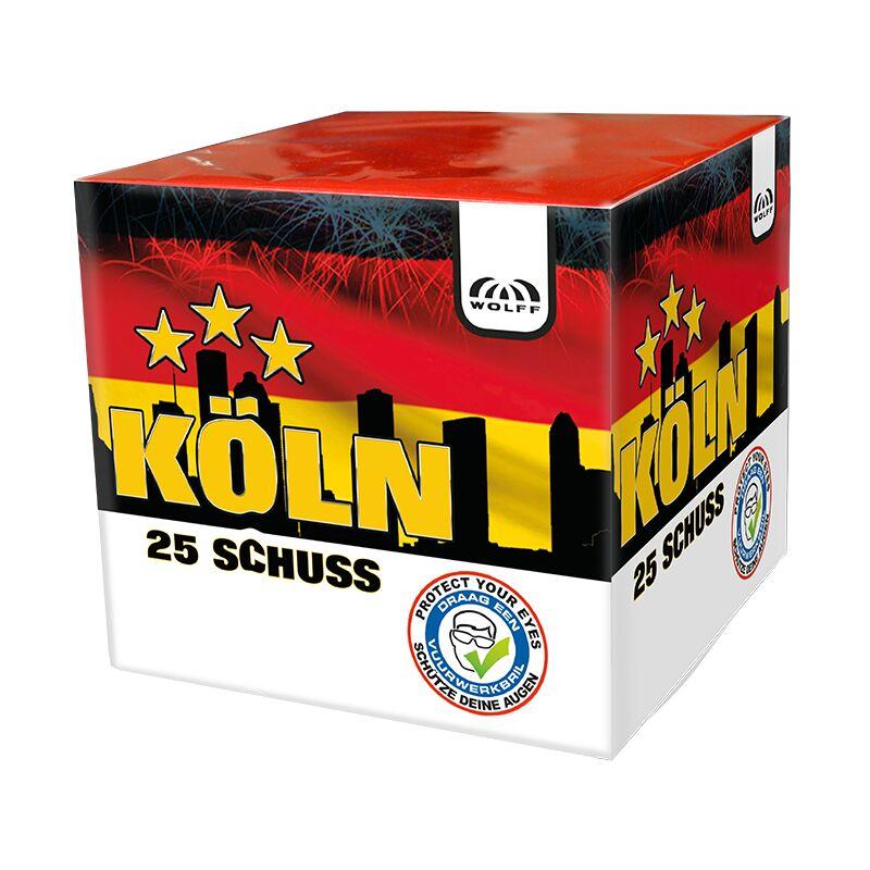 Jetzt Köln 25-Schuss-Feuerwerk-Batterie ab 9.34€ bestellen