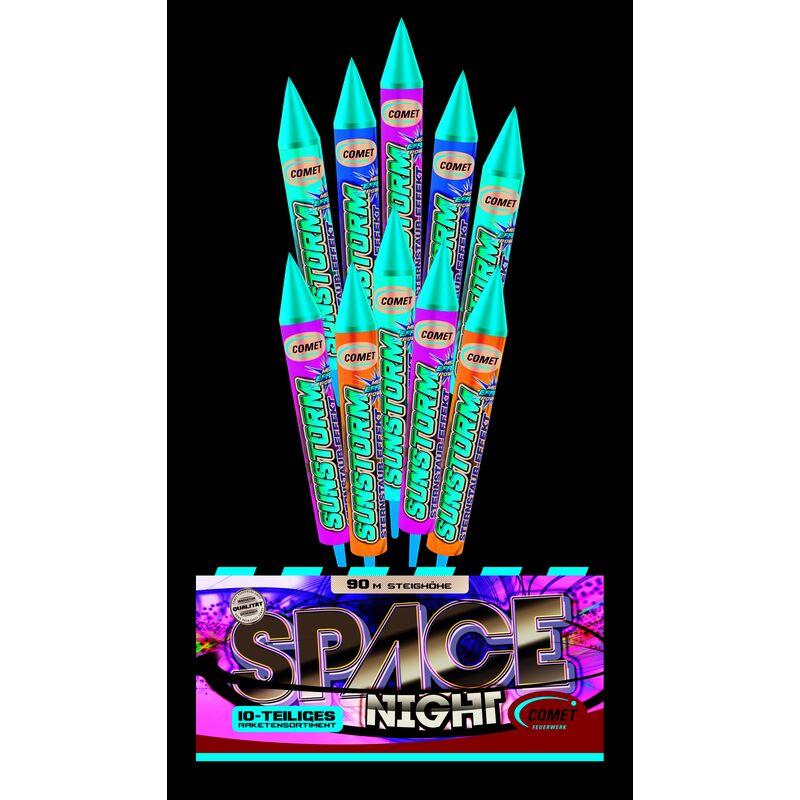 Jetzt Space Night 10-teiliges-Raketensortiment ab 5.94€ bestellen