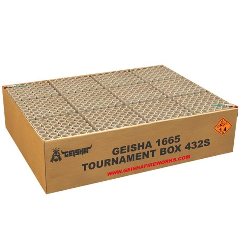 Jetzt Tournament Box 432-Schuss-Feuerwerk-Batterie (Triple-Compound) ab 254.99€ bestellen